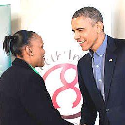 Barbra Meets PresidentObama