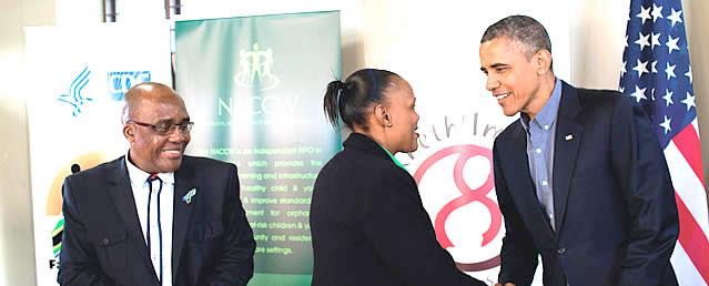 Barabra Matasane meets President Obama